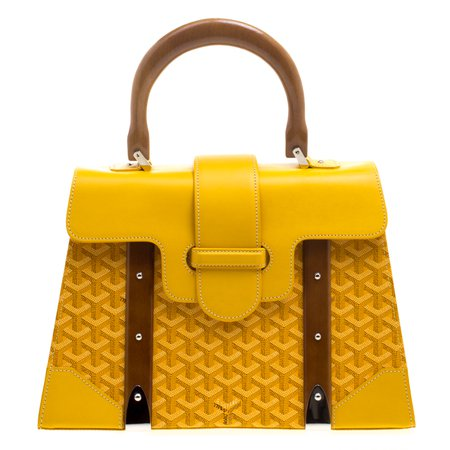 Buy Goyard Yellow Coated Canvas and Leather Saigon Top Handle Bag 115063 at best price | TLC