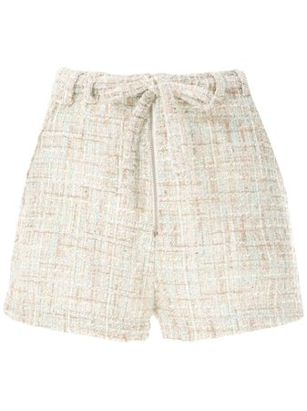 Olympiah Short 'Domo' Tweed Com Laço - Farfetch