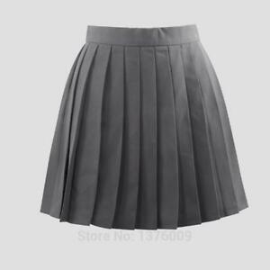 Gray Pleated Skirts Summer Female Pleated Skirt Japan Women School Uniform Skirt | eBay