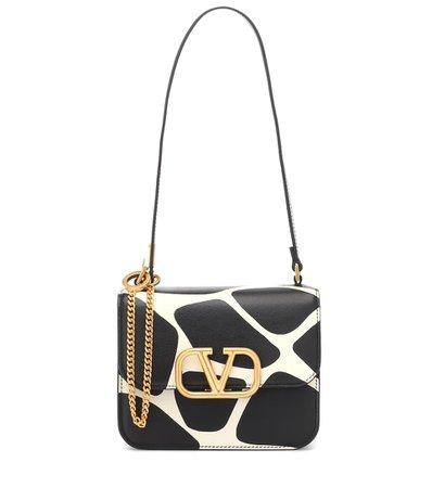 Valentino Garavani Vlogo Printed Leather Shoulder Bag - Valentino | Mytheresa