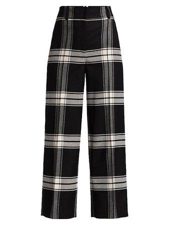 Akris punto Plaid Wide-Leg Pants | SaksFifthAvenue