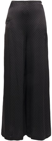 Cameron Polka-dot Satin Wide-leg Pants