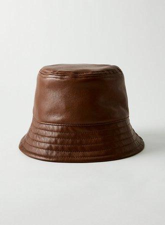 Babaton VEGAN LEATHER BUCKET HAT | Aritzia US