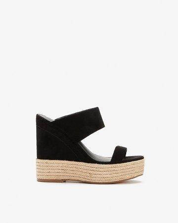 Double Strap Platform Wedge Sandals