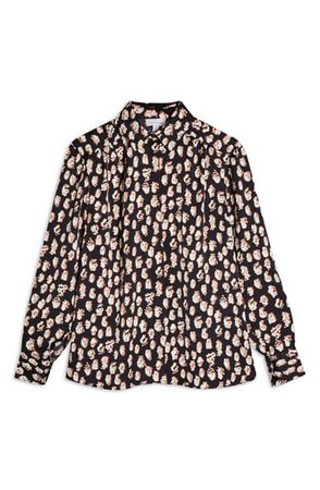 Topshop Fingerprint Satin Blouse | Nordstrom