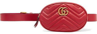 Gg Marmont Quilted Leather Belt Bag - Red