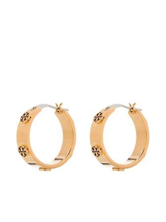 Tory Burch Miller Stud Hoop Earrings - Farfetch