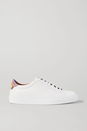 Givenchy | Urban Street logo-print leather sneakers | NET-A-PORTER.COM