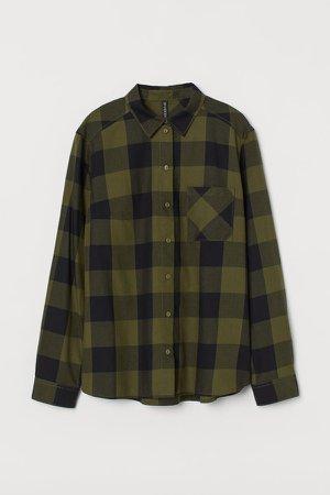 Cotton Shirt - Green