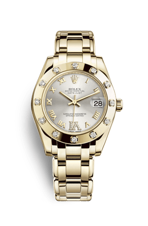 Rolex Pearlmaster 34 Watch: 18 ct yellow gold - M81318-0036