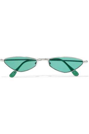 Andy Wolf   Eliza oval-frame metal sunglasses   NET-A-PORTER.COM