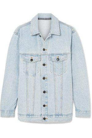 Alexander Wang   Daze oversized denim jacket   NET-A-PORTER.COM