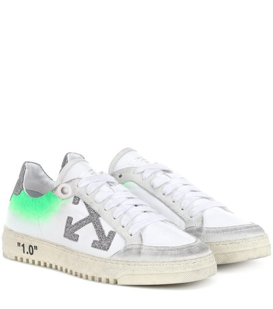 Off-White - Arrow 2.0 leather sneakers   Mytheresa