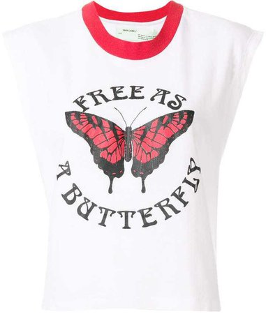 Off-White butterfly print tank top