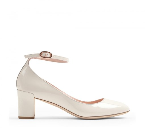 Repetto Electra Mary-Jane Patent leather coco white