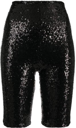 Sequinned Biker Shorts