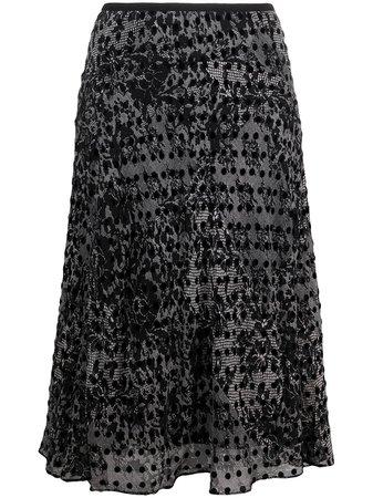 Shop DVF Diane von Furstenberg Patli flared A-line skirt with Express Delivery - FARFETCH