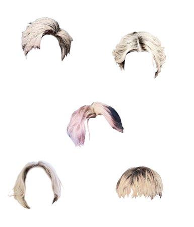blonde white hair