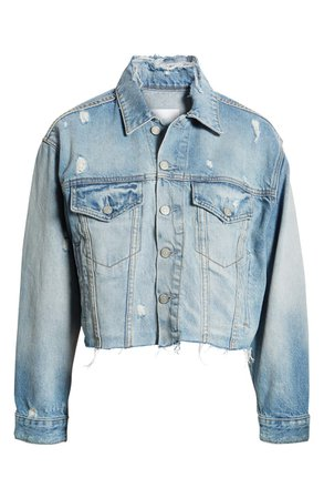Boyish Jeans The Harvey Raw Hem Denim Jacket | Nordstrom
