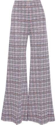 Checked Woven Wide-leg Pants