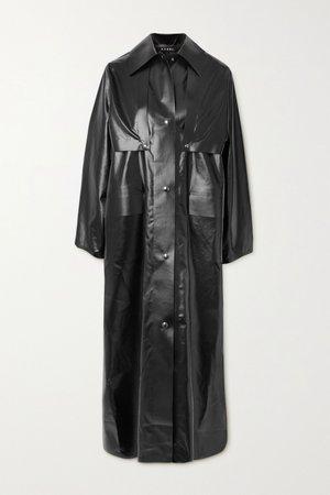 Black Reversible convertible vinyl trench coat | Kassl Editions | NET-A-PORTER