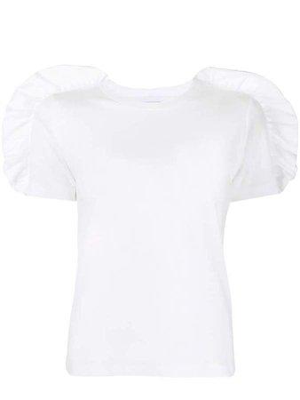 ruffle sleeve T-shirt