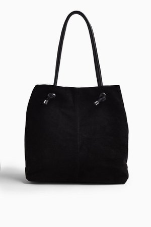 LIA Black Leather Strap Tote Bag | Topshop
