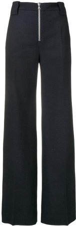 front zip trousers