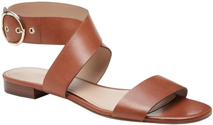 Leather Ankle-Strap Sandal