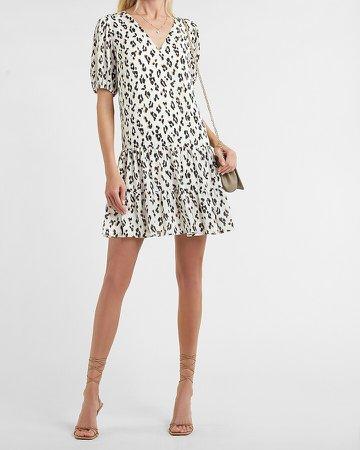 Leopard Tiered Trapeze Dress