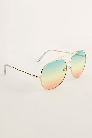 Sundown Oversized Aviator Sunglasses | Free People