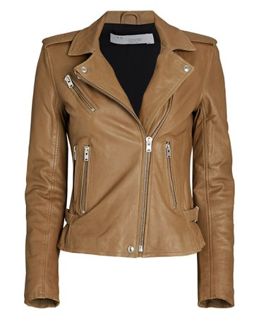IRO Newhan Leather Biker Jacket | INTERMIX®