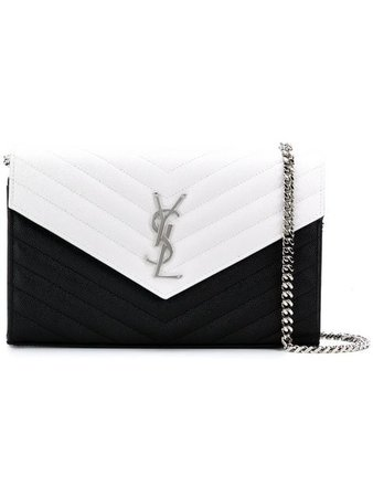Saint Laurent Bicolour Monogram Chain Wallet - Farfetch
