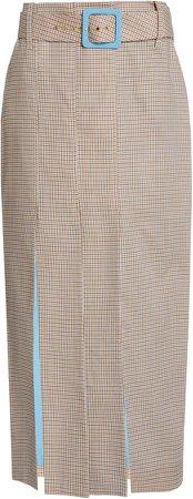 Staud Filli Micro Plaid Skirt