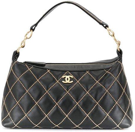 Chanel Pre Owned Wild Stitch CC shoulder bag