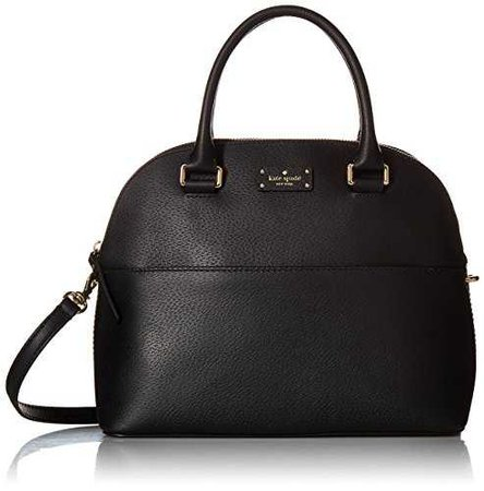 Amazon.com: Kate Spade Grove Street Carli Leather Crossbody Bag Purse Satchel Shoulder Bag (Almondine): Clothing