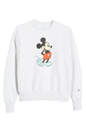 Disney x Champion Unisex Classic Mickey Graphic Sweatshirt | Nordstrom