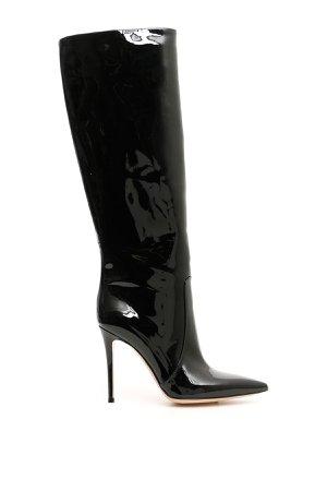 Gianvito Rossi Patent Heather Boots 105