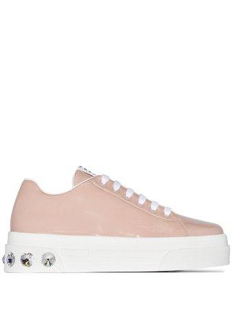 Miu Miu jewel low-top sneakers £580 - Shop Online - Fast Global Shipping, Price