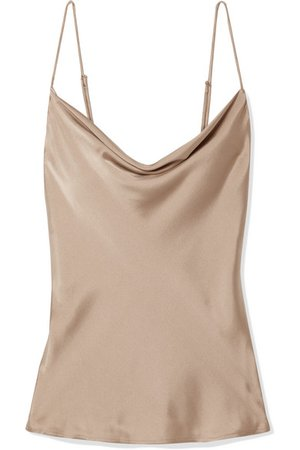 Skin | Tara draped washed stretch-silk satin camisole | NET-A-PORTER.COM