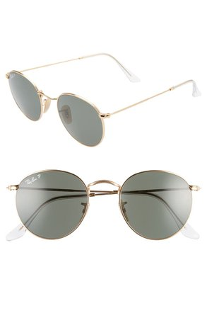 Ray-Ban 50mm Retro Inspired Round Metal Sunglasses | Nordstrom
