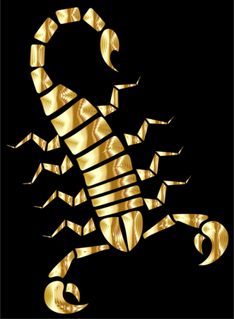Gold,Scorpion,Invertebrate PNG Clipart - Royalty Free SVG / PNG