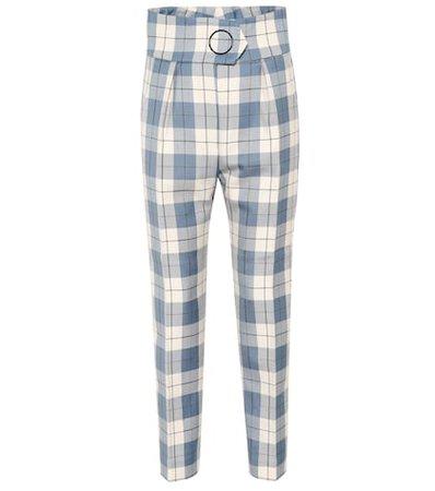 Hansville high-rise straight pants
