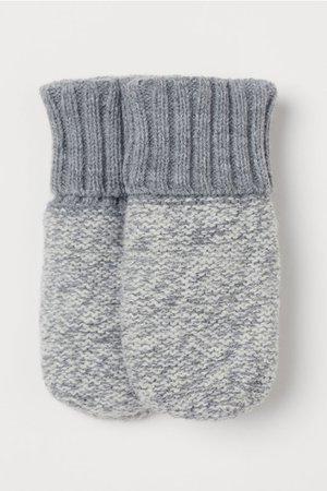 Knit Mittens - Light gray melange - Kids | H&M US