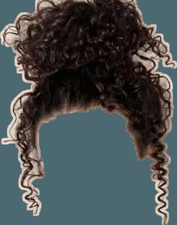 curly bun hair
