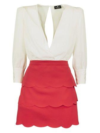 Elisabetta Franchi Celyn B. Dress With Miniskirt And Flounces