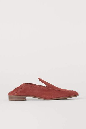 Suede Loafers - Orange