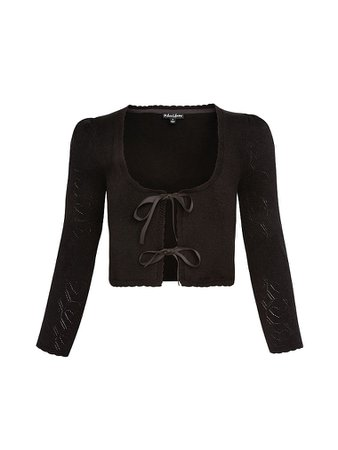 Pointelle Knit Cardigan Sweater Large View -- Victoria's Secret