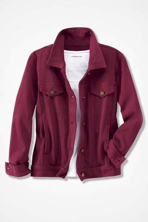 Maroon Denim Jacket