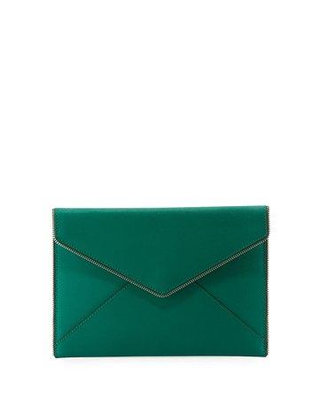 Rebecca Minkoff Leo Saffiano Envelope Clutch Bag | Neiman Marcus